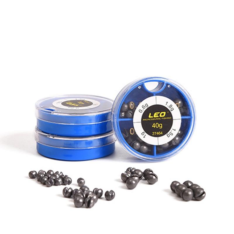 4 Sizes Round Fishing Lead Set Fishing Sinkers Weight Fishing Sinker Accessories Round Lead Optional Size