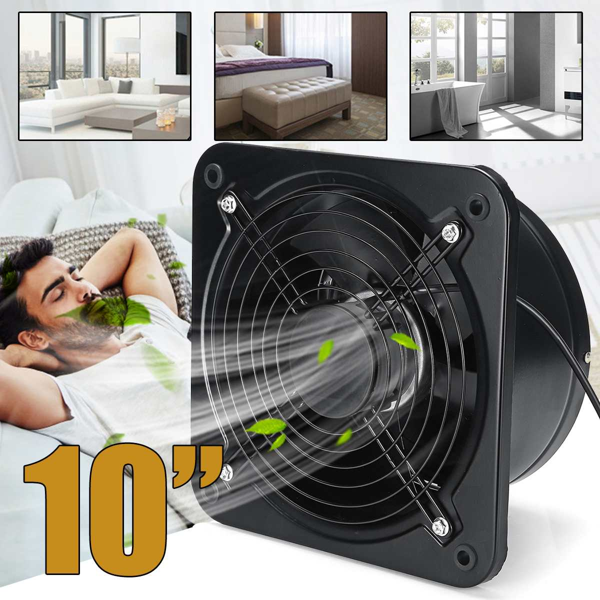 125W 10 Wall Window Extractor Ventilation Fan 220V Silent Bathroom Kitchen Toilet High Speed Ventilator Industrial Exhaust Fan125W 10 Wall Window Extractor Ventilation Fan 220V Silent Bathroom Kitchen Toilet High Speed Ventilator Industrial Exhaust Fan