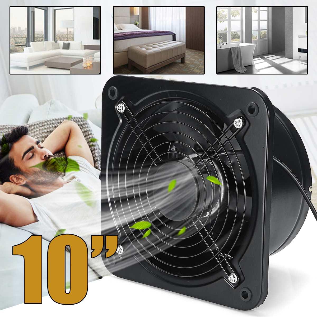 125W 10 Wall Window Extractor Ventilation Fan 220V Silent Bathroom Kitchen Toilet High Speed Ventilator Industrial Exhaust Fan