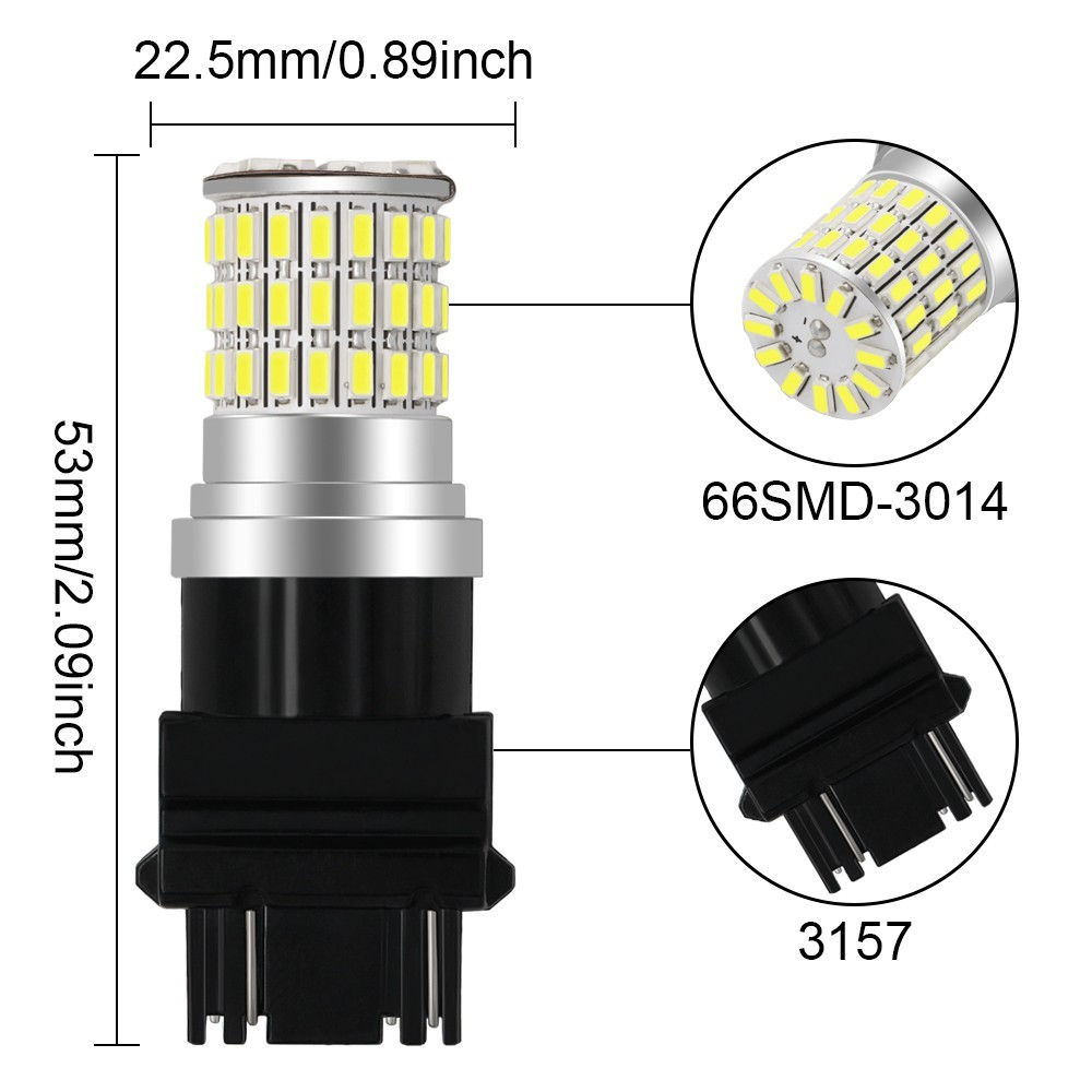 1 Piece 1156 1157 3156 3157 7440 7443 H8 H11 66SMD 3014 LED Auto Car Turn Signal Bulb Brake Lights Reverse Lamps 10 30V in Signal Lamp from Automobiles Motorcycles