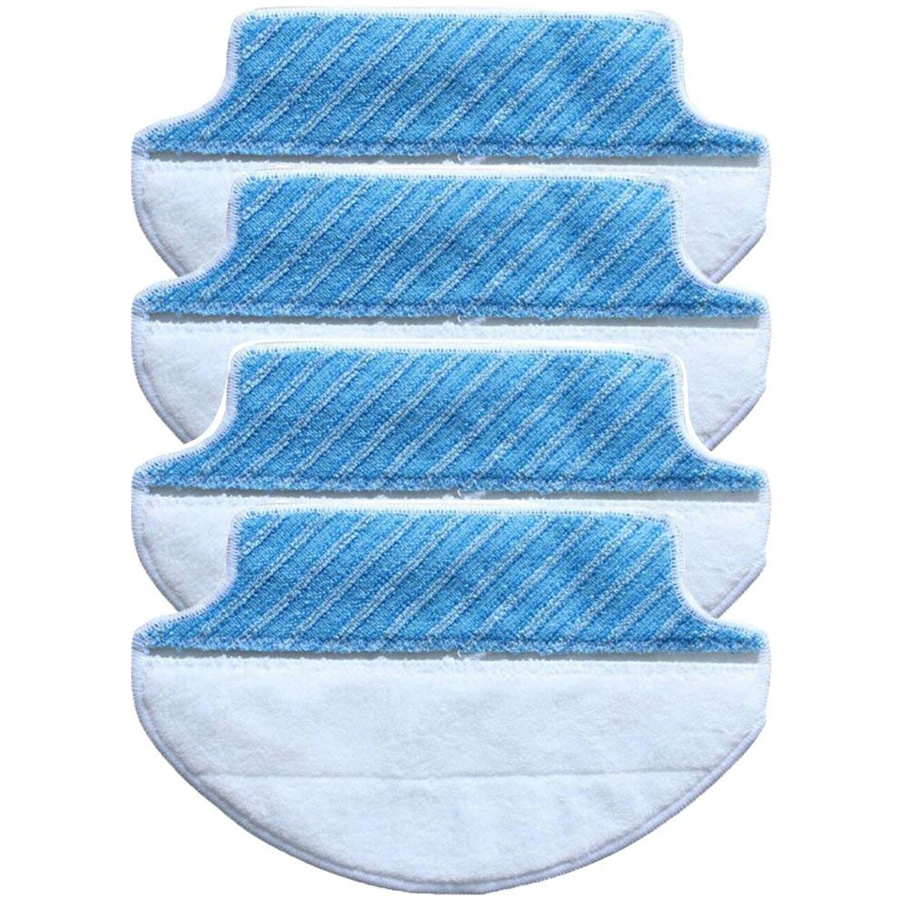 4-Pack Wet & Dry Microfiber Mop Pad Mopping Cloth For Ecovacs Deebot Dt85 Dt83 Edm814-Pack Wet & Dry Microfiber Mop Pad Mopping Cloth For Ecovacs Deebot Dt85 Dt83 Edm81