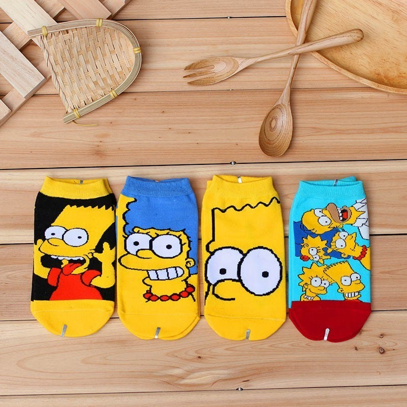 Spring Summer Women Cartoon Funny Cotton   Socks   Simpsons Family Novelty   Socks   Happy Ankle   Sock   Gifts For Family Summer 2019