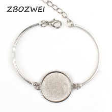 2pcs High Quality 20mm Silver Plated Bangle Base Bracelet Blank Findings Tray Bezel Setting Cameo high quality 12mm 14mm 16mm 18mm 20mm 316 stainless steel bangle base bracelet blank findings tray bezel setting cabochon cameo