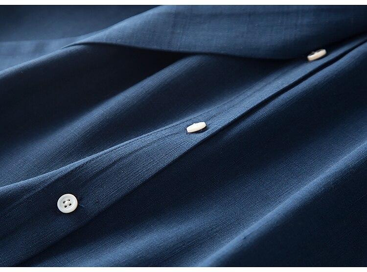 3923aced5cc Femmes Printemps Robe Soie Long 50 Les Linge 2019 Bureau Réel Dame Robes A  Bleu Pour ligne Marine Ceinturé Nouveau rqfxgWrnwO