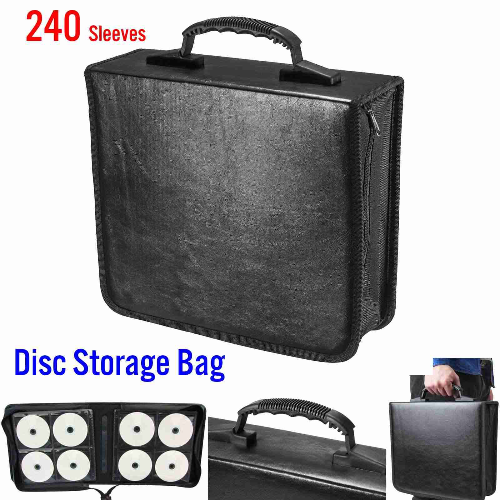 05329d53b752 240 диск CD DVD чехол сумка для хранения альбом коллекция держатель коробка  для переноски Органайзер диск