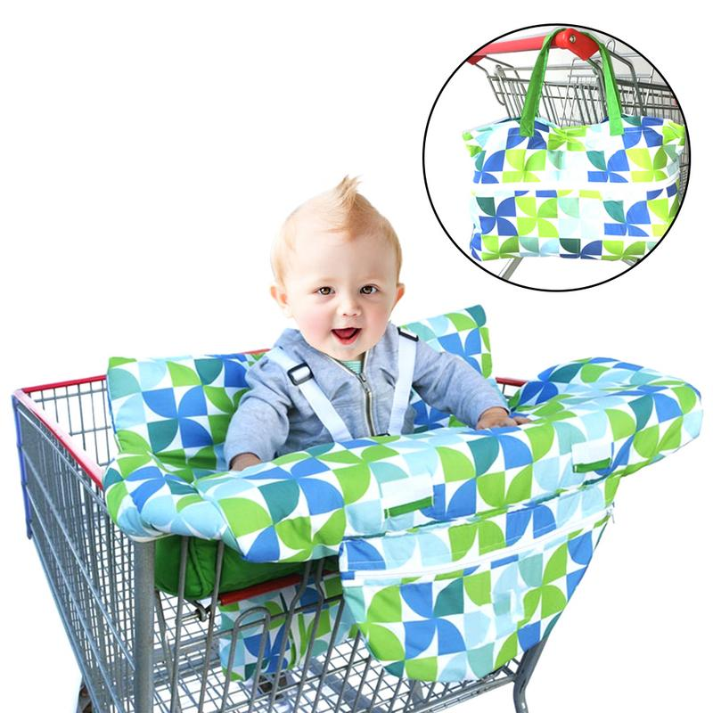 Baby Shopping Cart Cushion Safe Dining Seat Cover Universal Fit Ultra Plush 100%