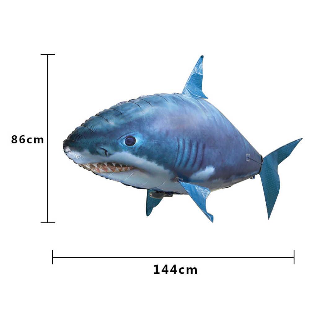 Пульт дистанционного управления Летающая акула Рыба RC радио воздушный пловец надувной Blimp Рождественский подарок Rc вертолет