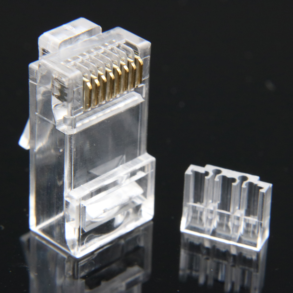 Image 4 - xintylink rj45 connector cat6 ethernet cable plug cat 6 network 8pin rj 45 gold plated utp male 8p8c unshielded load bar 50pcs-in Computer Cables & Connectors from Computer & Office