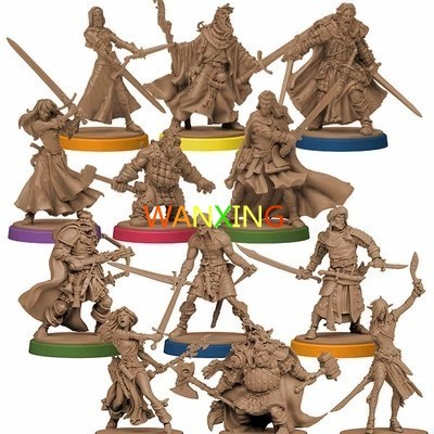 1/72 Scale Model Role Playing Zombicide Board Game Character Props Plastic DIY Hobbies Toys For Children Free Shipping image