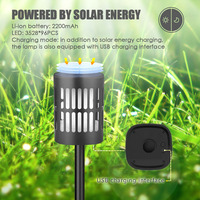 Home Decor Solar Lamp Torch Party Easy Install Garden Ornament Flame Effect Outdoor Durable Waterproof Led Flickering Bulb