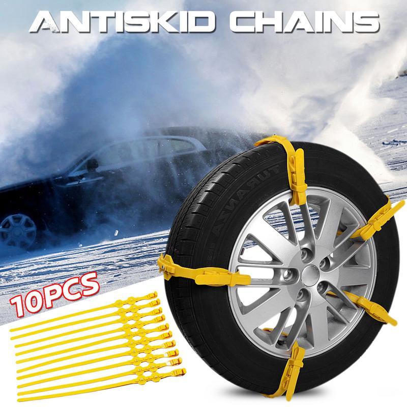 Hardware Ketten 10 Stücke Auto Auto Reifen Anti-skid Schnee Ketten Tpu Rindfleisch Sehne Sicher Fahren Gürtel StraßEnpreis