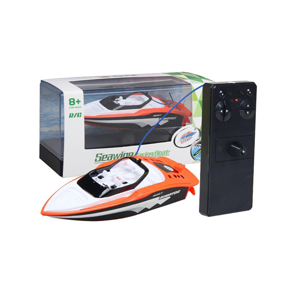 LeadingStar RC Boat Create Toys 3392M Portable Micro RC Racing Boat <font><b>Remote</b></font> <font><b>Control</b></font> Speedboat Boy Gift Kid Toy ZK30 image