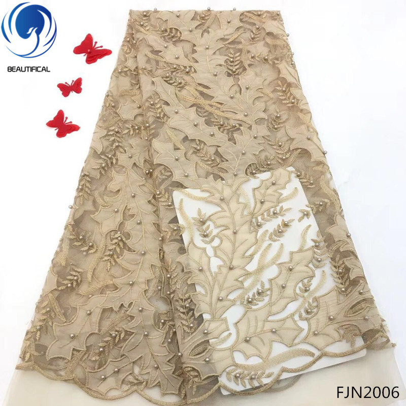 BEAUTIFICAL Velvet Laces African tulle lace French net lace fabric with beads for Party Dress 5Yards/lot Wholesale Price FJN20BEAUTIFICAL Velvet Laces African tulle lace French net lace fabric with beads for Party Dress 5Yards/lot Wholesale Price FJN20