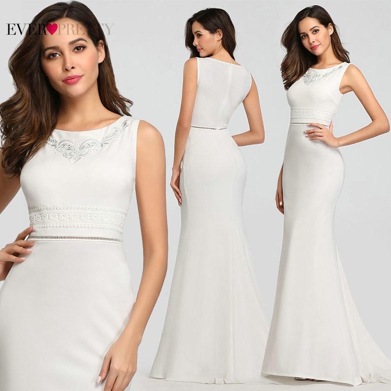 Boho Wedding Dress Long Ever Pretty Elegant Mermaid O Neck Sleeveless Embroidery Lace Beach Bridal Gowns Robe Blanche Mariage