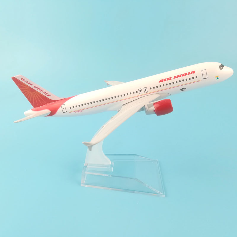 Plane Airplane Model 16cm Air India Airbus A320 Aircraft Model Diecast Metal Model Airplanes 1:400 Metal Aeroplane Plane Toy
