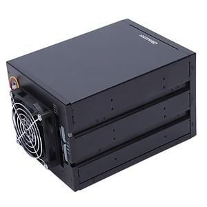 Image 5 - Oimaster 4 Bay Festplatte Gehäuse Rack Daten Lagerung Für 2,5 Zoll/3,5 Zoll Sata Sdd Festplatte Für 5,25 zoll Stick Bay