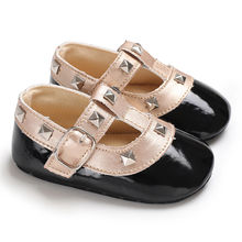 New Arrivals Child Toddler Kids Baby Girl Princess Crown Shoes Moccasins Leather Prewalker Cute Crystal Bordered Soft Sole Shoes