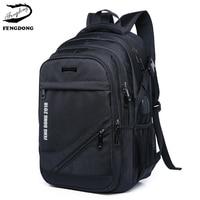 Fengdong 2019 New Men Backpack laptop Travel Men Shoulder Bag Large Capacity Backpack Male Business Mochila Bagpack Pack Design