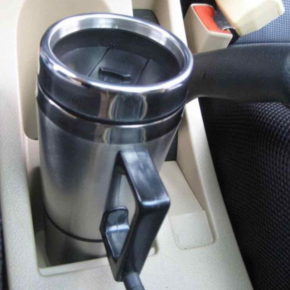 300ml 12V 24V coche Calefacción de acero inoxidable taza de Auto pava para calentar agua de café taza de té caliente Motor enchufe de encendedor de cigarrillos