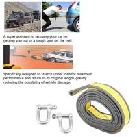 Car Trailer Towing Rope Recovery Tow Strap 8 Tons 4 Meters with U shape Hooks Light Reflection Towing Cable Tool NEW