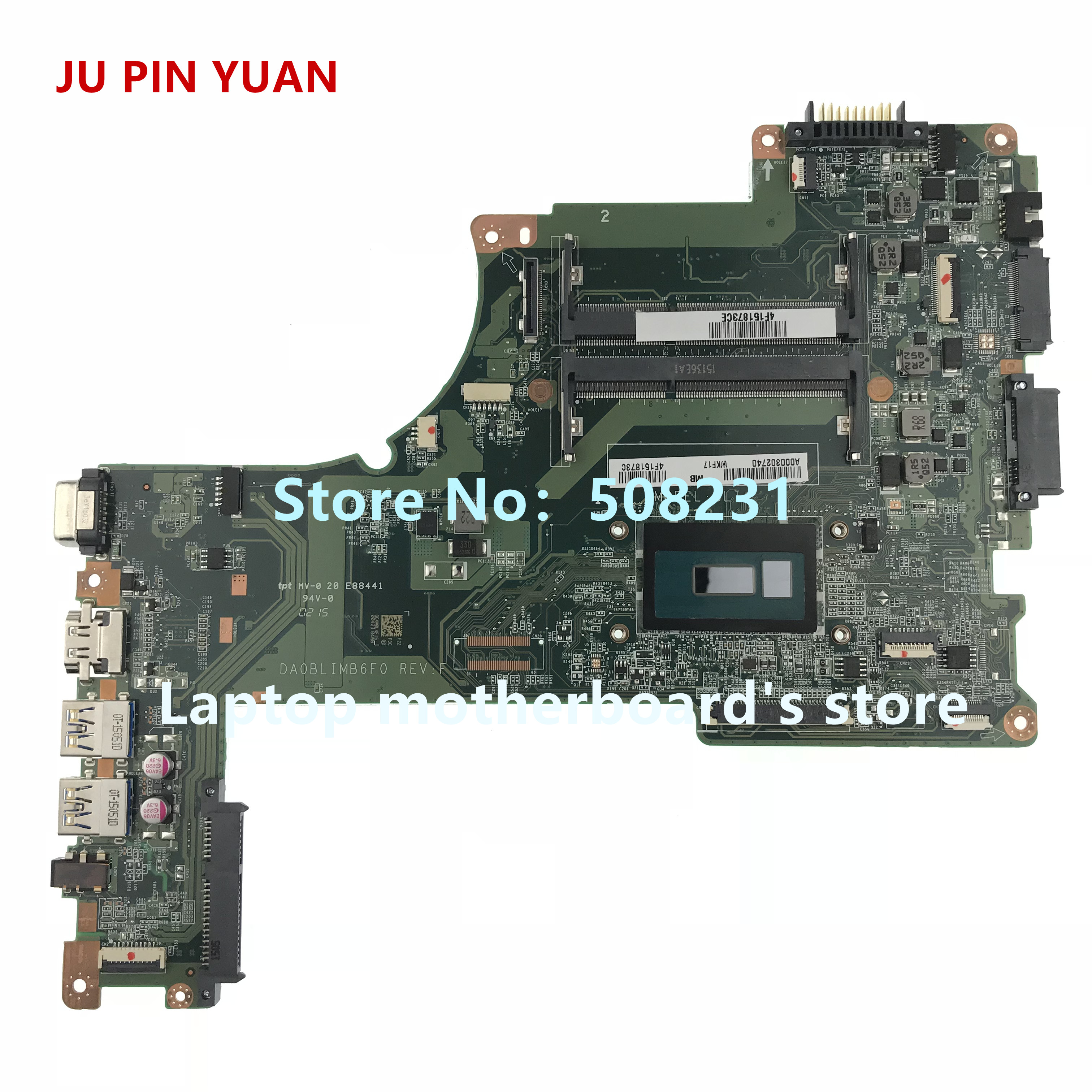 JU PIN YUAN A000302740 para TOSHIBA Satellite L50-B L55-B S50-B S55-B DA0BLIMB6F0 com i5-5200U L50T-B laptop motherboard