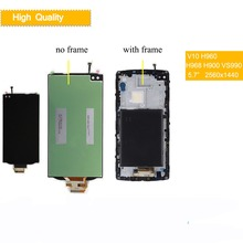10Pcs/lot Display For LG V10 LCD Touch Screen with Frame H960 H961 H968 H900 H901 VS990 RS987 Screen for LG V10 LCD Display цены онлайн