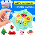 Neue 13200 stücke 42 Farben DIY 3D Wasser Magie Perlen Sicherung Perlen Spray Wasser Puzzle Jigsaw Puzzle Weihnachten Geschenke für kinder Spielzeug