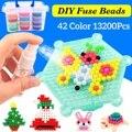 Nuevo 13200 piezas 42 colores DIY 3D cuentas mágicas de agua fusible cuentas espray agua rompecabezas regalos de Navidad para los niños de juguete