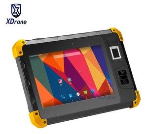 Oryginalny K805 wodoodporny Android tablet/telefon odporna na wstrząsy przemysłowe czytnik linii papilarnych 8