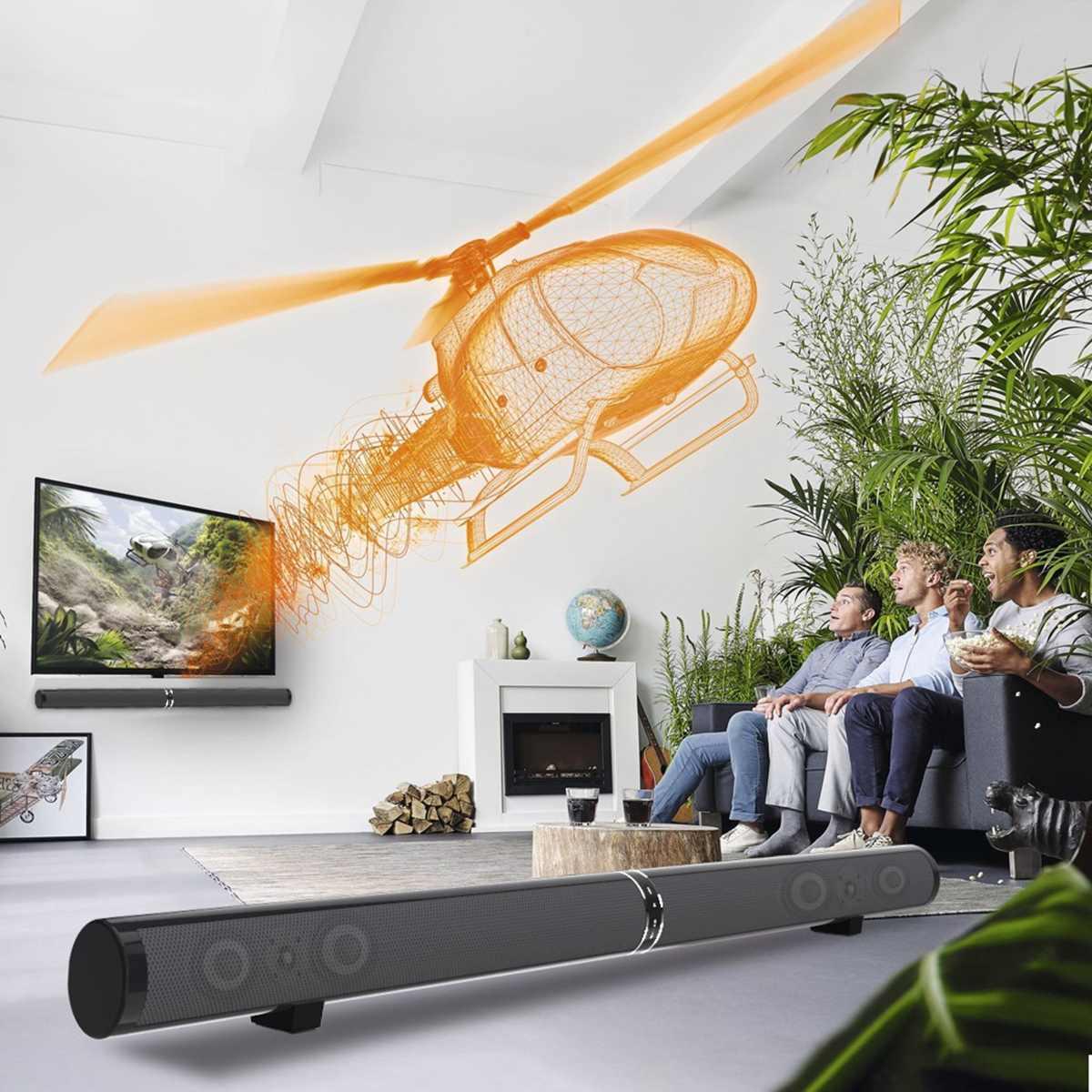 Detachable Wireless Soundbar Bluetooth Speaker Theater Subwoofer 3D Sound Bar Remote Control TV PC Phone