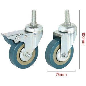 Image 4 - عجلات قابلة للتدوير مصنوعة من الصلب الثقيل وعجلات PVC 75 مللي متر مع عجلات الفرامل للأثاث ، مجموعة من 4 (دعم دسكون بالجملة