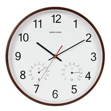 Geekcook 12 дюймов классические настенные часы Бесшумный кварцевый термометр гигрометр Влажность не тикает для комнаты офиса Прямая поставка