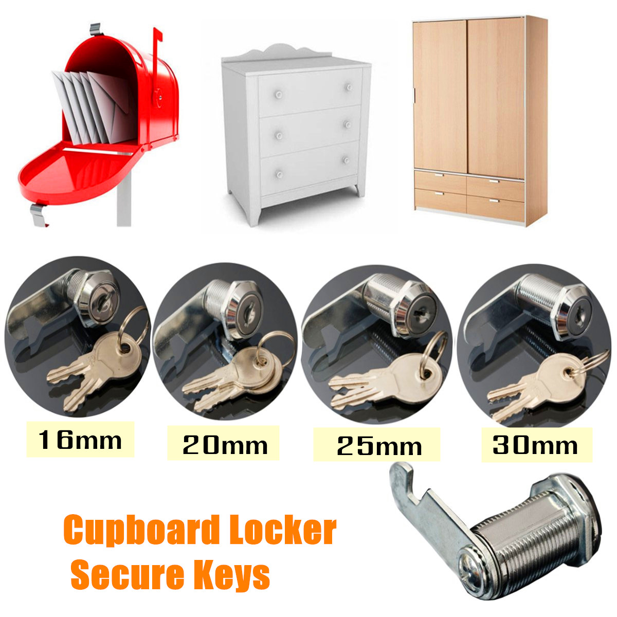 Hasps & Locks 4 Size 16/20/25/30mm Safe Cam Lock Pinball Arcade Machine Door Cabinet Toolbox Drawer & 2key For Filing Mailbox Drawer Cupboard A Great Variety Of Models