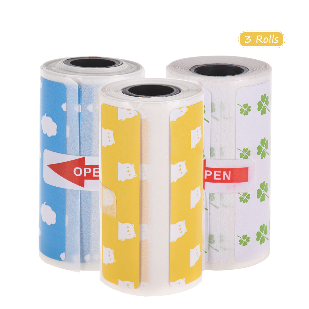 Strong Sticker Adhesive Roll Direct-Thermal-Labels Peripage For A6 Clear-Printing 57--30mm
