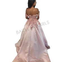 Off Shoulder Pink Prom Dress elegant Sweetheart party dress
