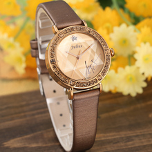 Bling Star Cut Glass Lady Women's Watch Japan Quartz Hours Fine Fashion Bracelet Real Leather Girl's Birthday Gift Julius BOX цена