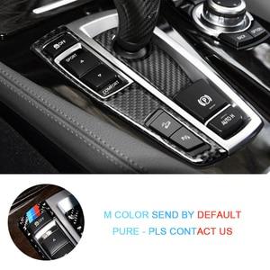 Image 5 - Voor Bmw 5 Serie Gt F07 F10 X3 X4 F25 F26 Koolstofvezel Auto Versnellingspook Panel Pookknop Cover