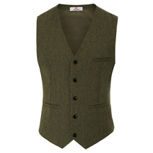 Mens Slim&Fit V-Neck Single Breasted Handkerchief Hem Waistcoat Vest Coat недорого