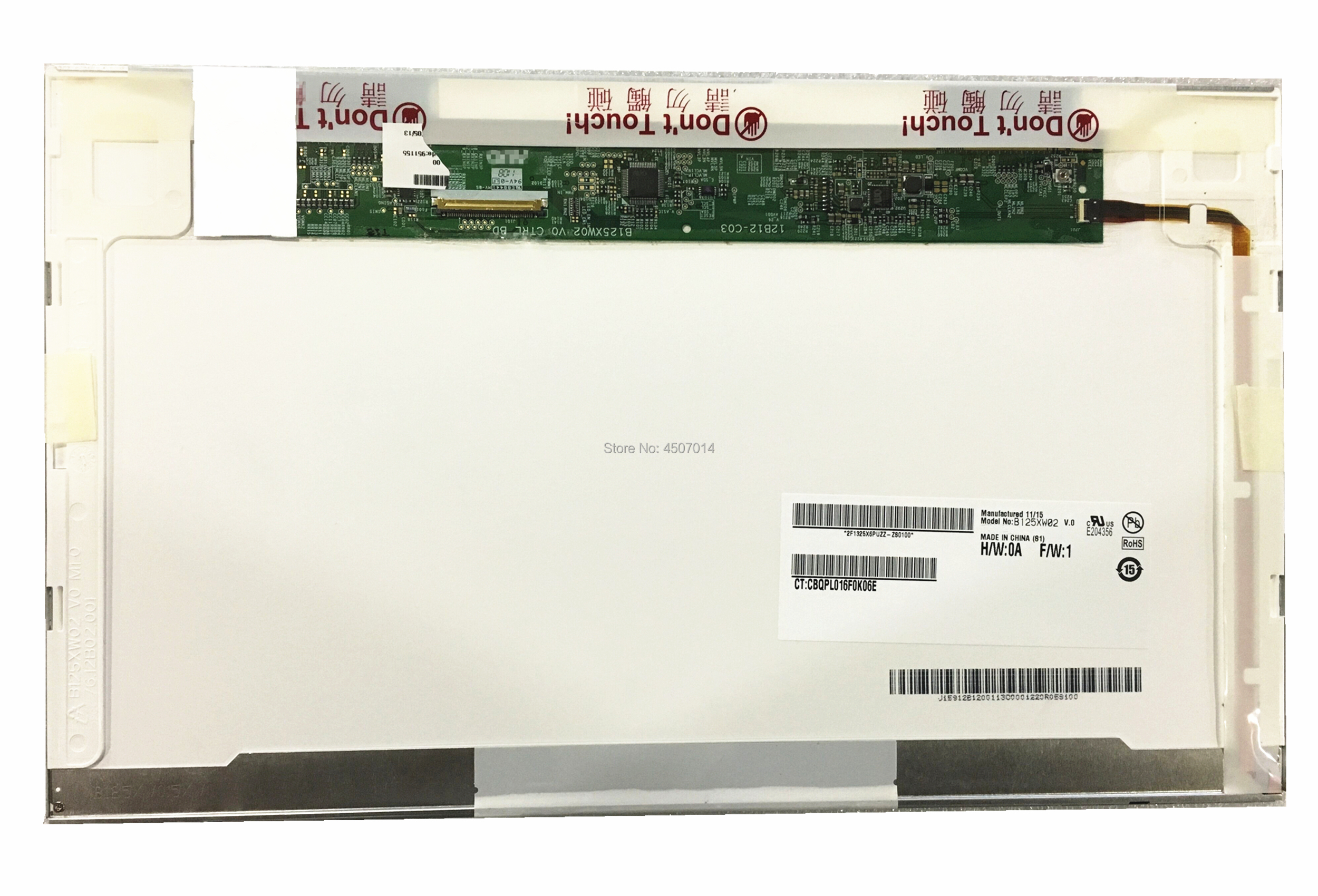 Free Shipping B125XW02 V.0 LTN125AT02 LP125WH2 For <font><b>HP</b></font> 2560P <font><b>2570P</b></font> Laptop <font><b>Lcd</b></font> Screen 1366*768 40 Pins image
