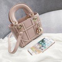 Small Rivet Ladies Hand Sling Crossbody Bags Women Leather Luxury Handbag Designer Female Shoulder Tote Bag Sac Main Pink Clutch