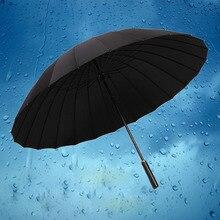 24 Bone Umbrella Long Men's Rainbow Umbrella Straight Business Outdoor Double Large Rainbow Three Advertising Umbrella