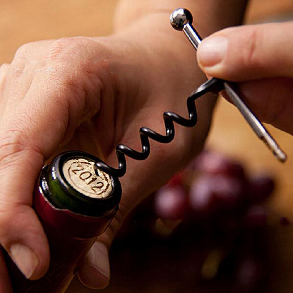 1Pc Red Wine Bottle Opener Multi-functional Mini Cork Screw Keychain Camping Outdoor Survival Tool Good Quality 3.3*6.8cm