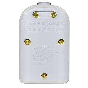 Image 2 - Prise américaine/ue/royaume uni/AU/CN 10A 250V multiprise électrique universelle prise dextension adaptateur filaire pour filtre de réseau à domicile de bureau