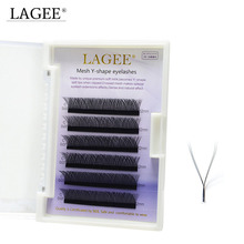 LAGEE Y-shape volume faux mink eyelash Easily grafting dense beauty cilios lashes natural soft individual lashes extension weave