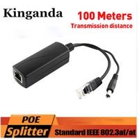 30Pcs PoE Splitter Power Over Ethernet Adapter Cable RJ45 48V to 12V 2A IEEE802.3af/at Gigabit POE Splitter with DHL Shipping