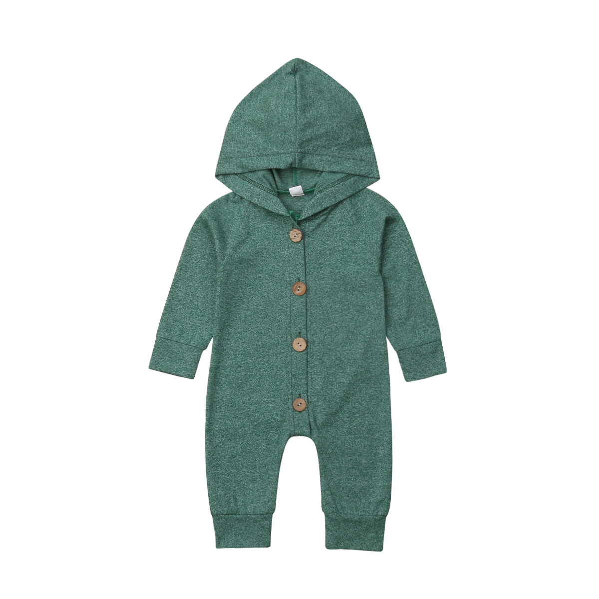 Autumn Winter Infant Baby Boys Girls Clothing Long Sleeve Hooded   Romper   Cotton Casual Kids Outfit Clothes Baby Boys 0-24M