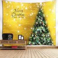 Tapestry Tree Wall Blanket Christmas Theme Hanging Home Decoration Tapestries Tablecloths Sofa Covers Outdoor Seated Blanket