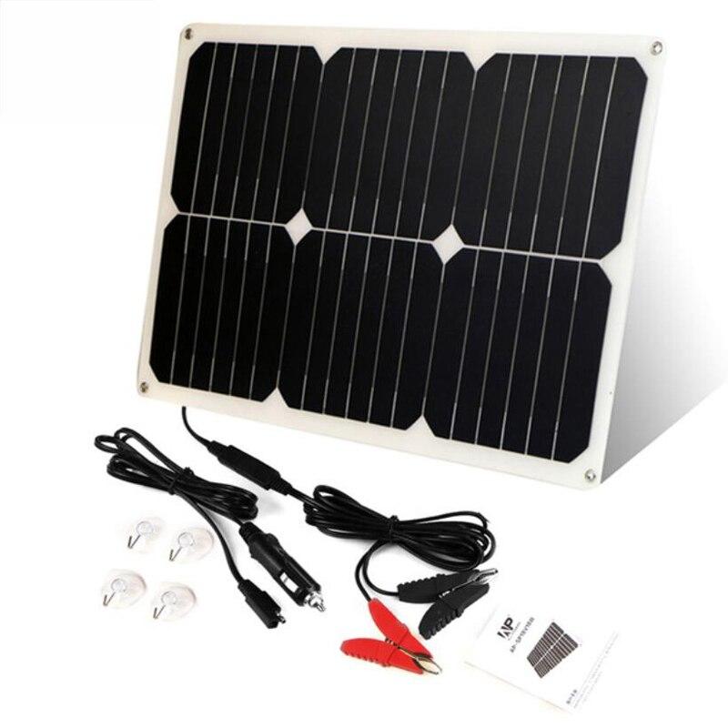 42*28 cm ALLPOWERS 12 V 18 W Portable batterie solaire chargeur de voiture pour batterie de voiture Auto moto bateau étanche chargeur de batterie