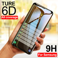 6D Screen Protector Glass For Samsung Galaxy S8 S9 Plus Note 8 9 Full Cover Tempered Glass For Samsung S7 S6 Edge Plus Glass(China)