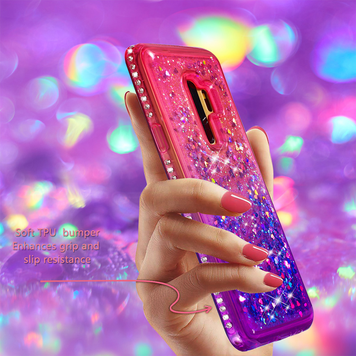 J3 Emerge Diamond Glitter Laser Phone Cover For Samsung Galaxy S8 S9 A8 A6 Plus J5 J7 J8 2018 Dynamic Liquid Quicksand Case B31 Cellphones & Telecommunications Fitted Cases